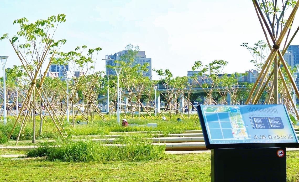 園區採取幾何式動線貫穿全區創造地景特色的小港森林公園.jpg